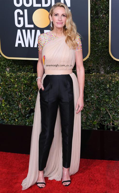 مدل لباس,مدل لباس در گلدن گلوب 2019,بهترين مدل لباس,بهترين مدل لباس در گلدن گلوب 2019,مدل لباس هاي برتر در گلدن گلوب 2019 Golden Globes - جوليا رابرتز Julia Roberts