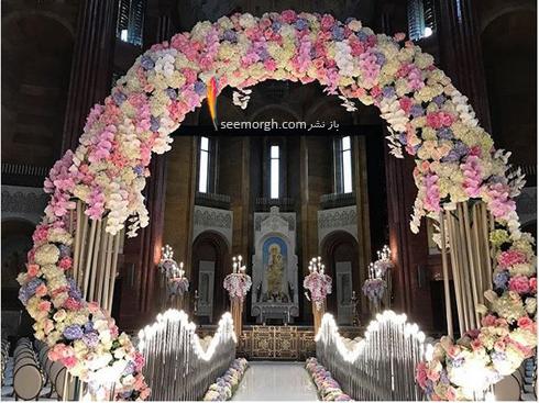 مراسم عروسی,گرانقیمت ترین مراسم عروسی روسیه,مراسم عروسی ثروتمندترین پسر روسیه,مراسم عروسی کارن کارپتیان Karen Karapetyan پسر ثروتمندترین مرد روسیه - تزیین ورودی عروس و داماد به کلیسا