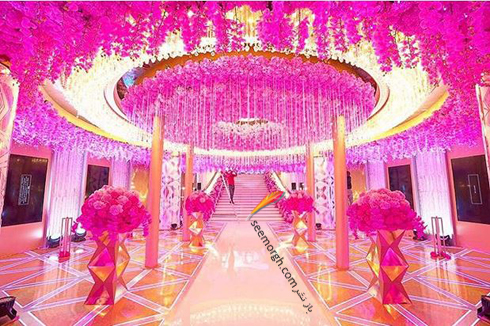 مراسم عروسی,گرانقیمت ترین مراسم عروسی روسیه,مراسم عروسی ثروتمندترین پسر روسیه,مراسم عروسی کارن کارپتیان Karen Karapetyan پسر ثروتمندترین مرد روسیه - تزیین سالن ورودی
