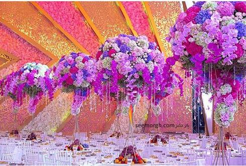 مراسم عروسی,گرانقیمت ترین مراسم عروسی روسیه,مراسم عروسی ثروتمندترین پسر روسیه,مراسم عروسی کارن کارپتیان Karen Karapetyan پسر ثروتمندترین مرد روسیه - تزیین میز میهمانان