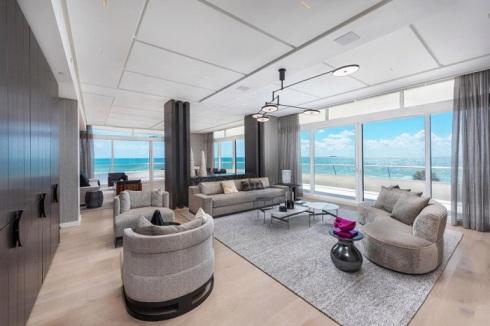 نمای داخلی آپارتمان ساحلی کیم کارداشیان