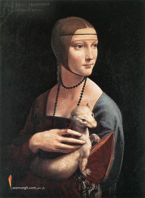 نقاشی,نقاشی های مشهور,لئوناردو داوینچی,بانویی با قاقم