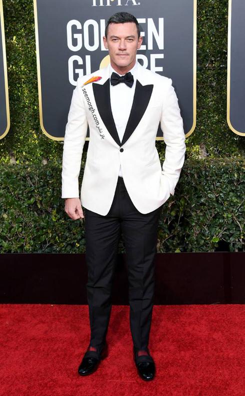 کت و شلوار,مدل کت و شلوار,بدترين مدل کت و شلوار,کت و شلوار در مراسم گلدن گلوب,بدترين مدل کت و شلوار در مراسم گلدن گلوب,بدترين مدل کت و شلوار در گلدن گلوب 2019 - لوک اوانس Luke Evans
