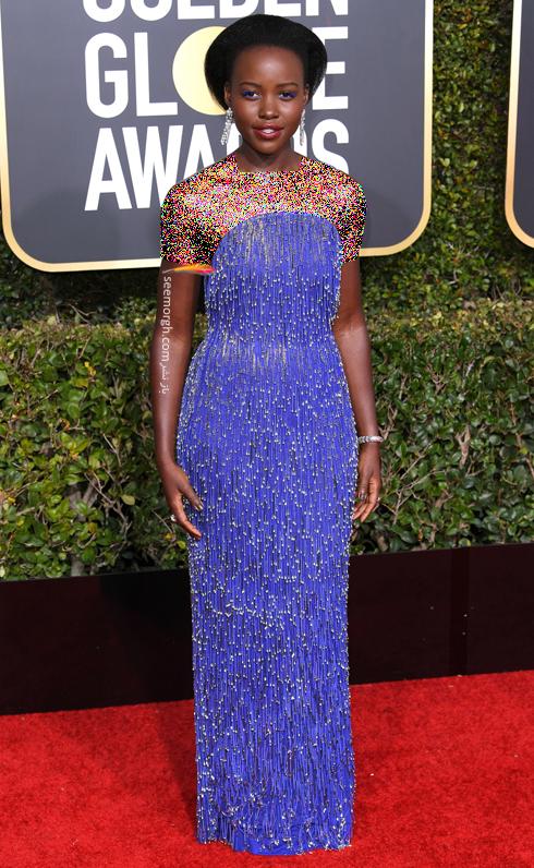 مدل لباس,مدل لباس در گلدن گلوب 2019,بهترین مدل لباس,بهترین مدل لباس در گلدن گلوب 2019,مدل لباس های برتر در گلدن گلوب 2019 Golden Globes - لوپیتا Lupita