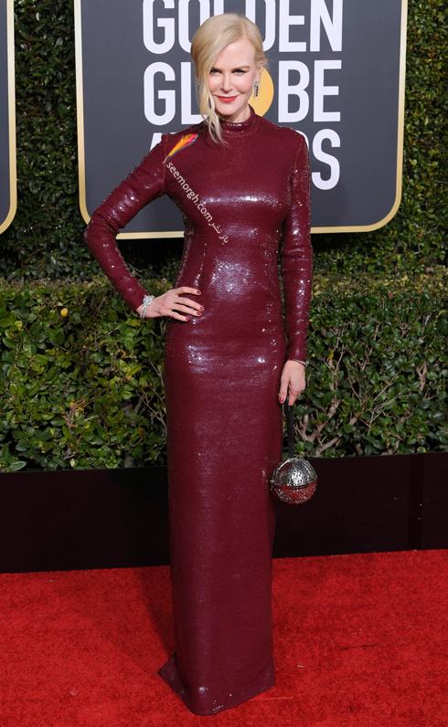 مدل لباس,مدل لباس در گلدن گلوب 2019,بهترين مدل لباس,بهترين مدل لباس در گلدن گلوب 2019,مدل لباس هاي برتر در گلدن گلوب 2019 Golden Globes - نيکول کيدمن Nicole Kidman