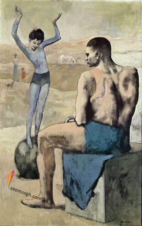 دختری روی توپ,پابلو پیکاسو