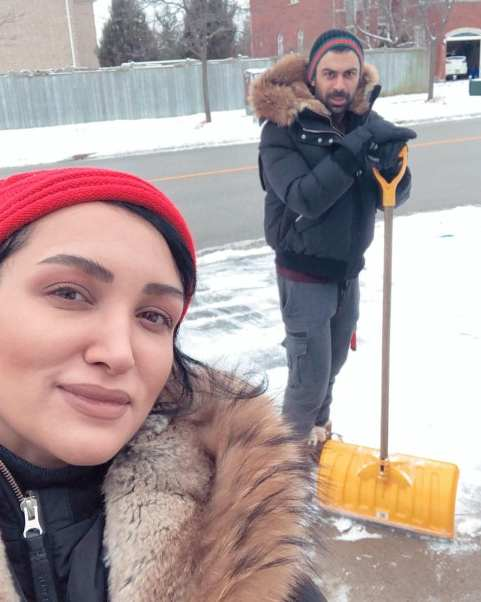 روناک یونسی و همسر محسن میری