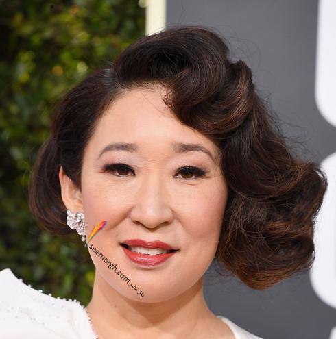 مدل مو,بهترين مدل مو,مدل مو در گلدن گلوب,بهترين مدل مو در گلدن گوب,مدل مو هاي برتر در گلدن گلوب 2019 Golden Globes - ساندرا اوه Sandra Oh