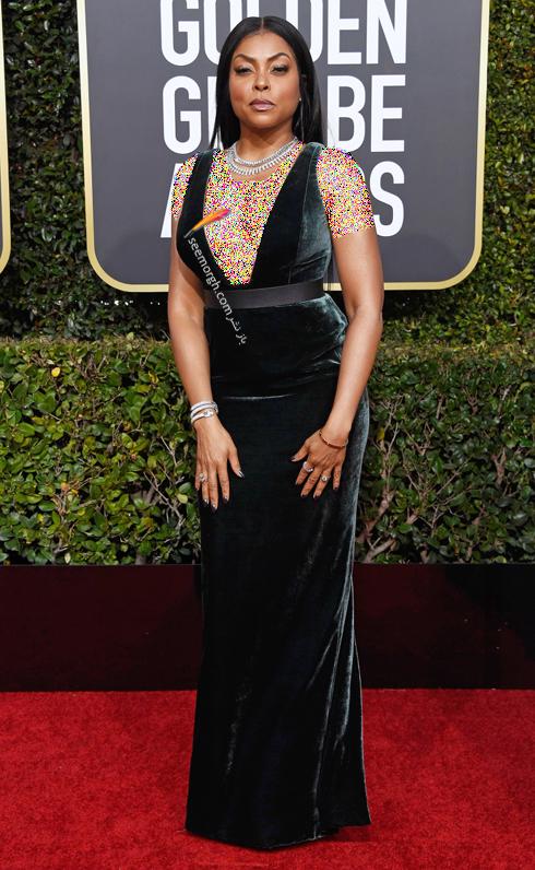 مدل لباس,مدل لباس در گلدن گلوب 2019,بهترين مدل لباس,بهترين مدل لباس در گلدن گلوب 2019,مدل لباس هاي برتر در گلدن گلوب 2019 Golden Globes - تاراج پي هنسون Taraji p. Henson