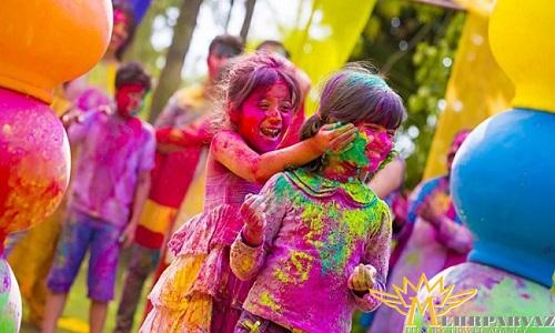 جشنواره هولی در هند (جشن رنگ ها)