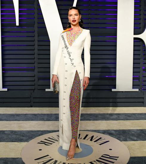 مدل لباس,مدل لباس در ميهماني بعد از اسکار,مدل لباس در ميهماني مجله ونتي فير,مدل لباس آدريانا ليما Adriana Lima در ميهماني بعد از اسکار 2019 Oscar