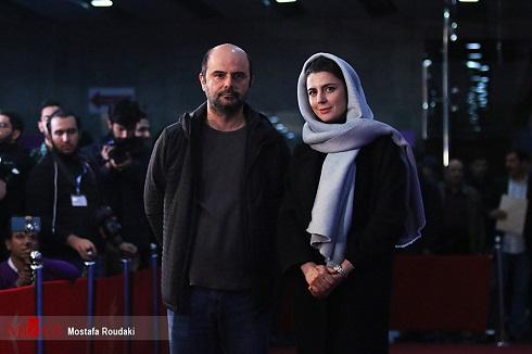 علی مصفا و لیلا حاتمی روی فرش قرمز جشنواره فجر97