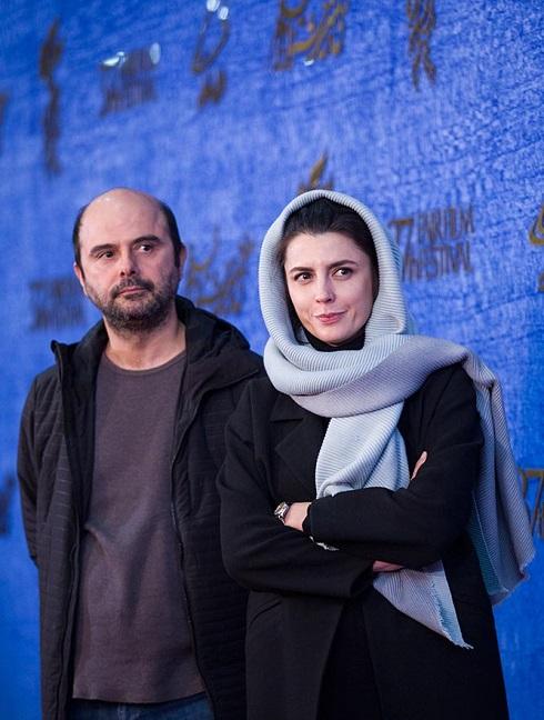 لیلا حاتمی و علی مصفا در اکران فیلم «مردی بدون سایه» جشنواره فجر 97