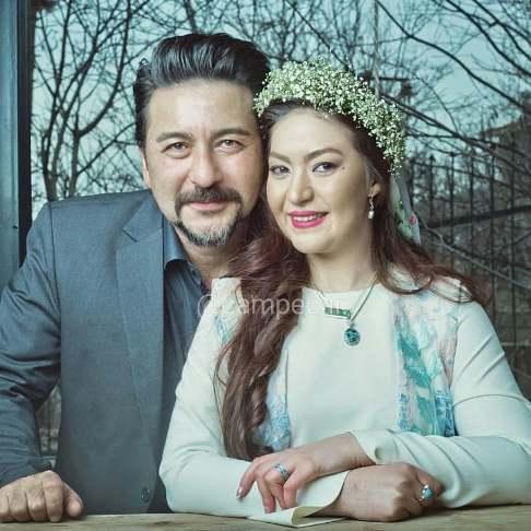 امیرحسین صدیق و همسرش در روز عروسی شان
