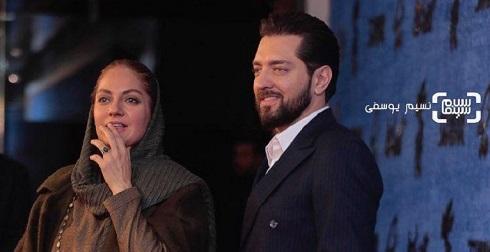 مهناز افشار در کنار بهرام رادان در جشنواره فجر 97