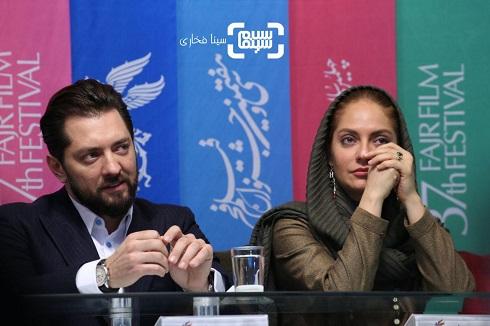 بهرام رادان و مهناز افشار در نشست خبری فیلم «آشفته گی»