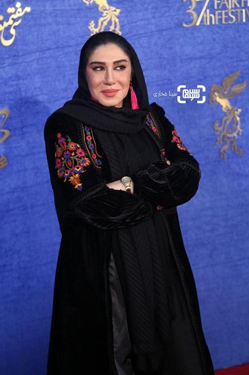 نسیم ادبی روی فرش قرمز فیلم «آشفته گی» جشنواره فجر 97