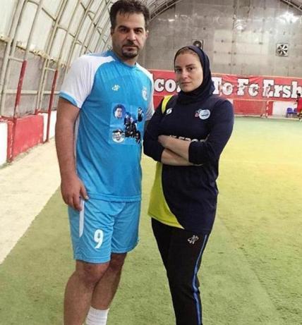 آتوسا حجازي و همسرش سعيد رمضاني