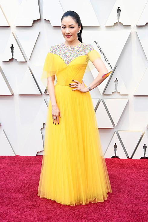 مدل لباس,مدل لباس در اسکار,بهترين مدل لباس,بهترين مدل لباس در اسکار,مدل لباس هاي برتر در اسکار 2019 کانستنس وو Constance Wu