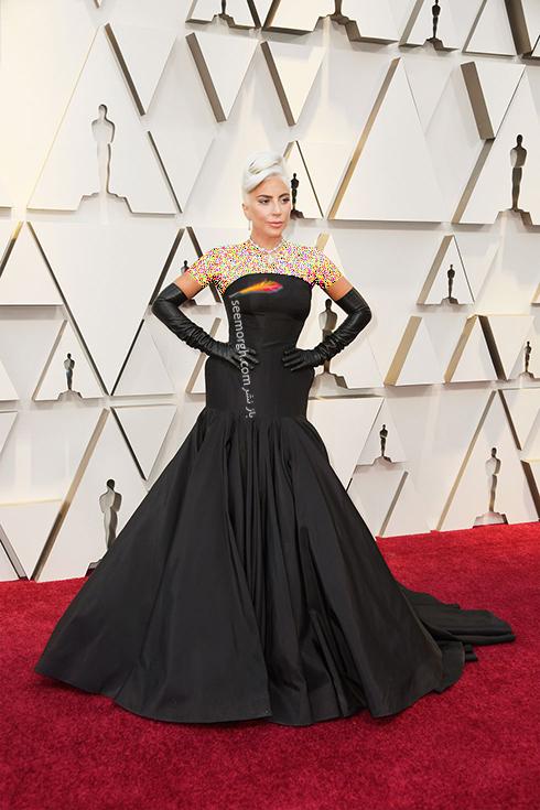 مدل لباس,مدل لباس در اسکار,بهترین مدل لباس,بهترین مدل لباس در اسکار,مدل لباس های برتر در اسکار 2019 لیدی گاگا Lady Gaga