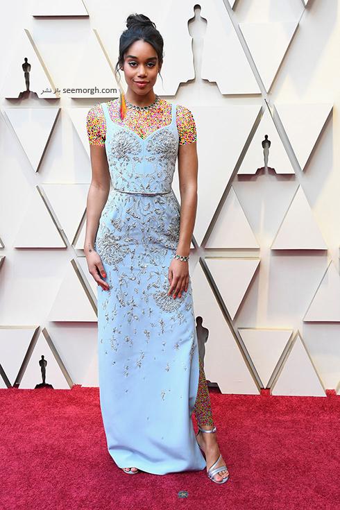 مدل لباس,مدل لباس در اسکار,بهترین مدل لباس,بهترین مدل لباس در اسکار,مدل لباس های برتر در اسکار 2019 لارا هریر Laura Harrier
