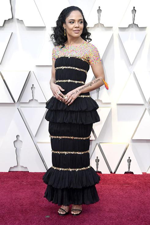 مدل لباس,مدل لباس در اسکار,بهترين مدل لباس,بهترين مدل لباس در اسکار,مدل لباس هاي برتر در اسکار 2019 تيسا تامپسون Tessa Thompson
