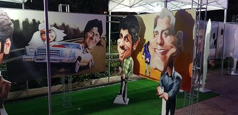 کاریکاتور مهران مدیری و جواد رضوی، اثر شهاب جعفرنژاد