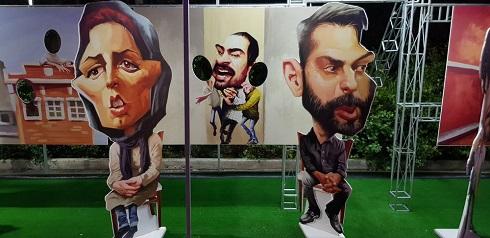 کاریکاتور لیلا حاتمی و پیمان معادی، اثر شهاب جعفرنژاد