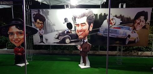 شهاب حسینی و ترانه علیدوستی سوژه کاریکاتوری شهاب جعفرنژاد