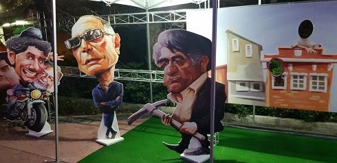 کاریکاتور جالب بازیگران به بهانه جشنواره فیلم فجر، اثر شهاب جعفرنژاد