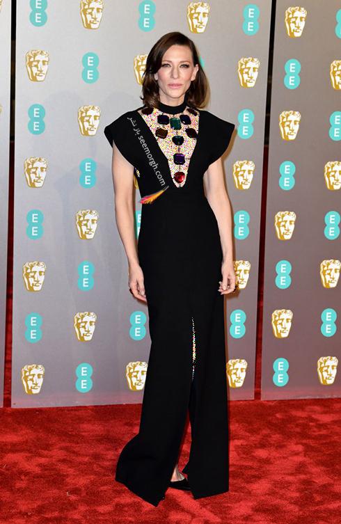 بفتا,بفتا 2019,مدل لباس,مدل لباس در بفتا 2019,مدل لباس کيت بلانشت Cate Blanchett در بفتا 2019 Bafta