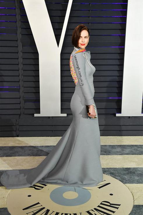 مدل لباس,مدل لباس در ميهماني بعد از اسکار,مدل لباس در ميهماني مجله ونتي فير,مدل لباس شارليز ترون Charlize Theron در ميهماني بعد از اسکار 2019 Oscar