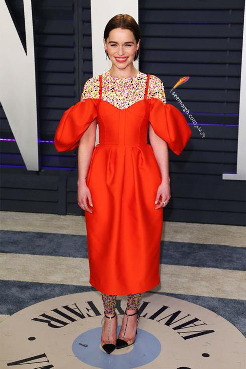 مدل لباس,مدل لباس در ميهماني بعد از اسکار,مدل لباس در ميهماني مجله ونتي فير,مدل لباس اميليا کلارک Emilia Clarke در ميهماني بعد از اسکار 2019 Oscar