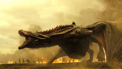 اژدهايان دينريس در فصل پاياني سريال «بازي تاج و تخت» (Game Of Thrones)
