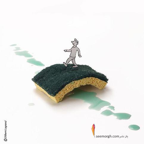 گیلبرت لگراند,اثر هنری,اثر هنری با مواد بد دردنخور,هنر بازیافتی,Gilbert Legrand