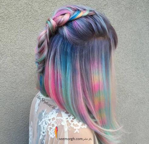 رنگ مو,رنگ مو فانتزي,دوام رنگ مو هاي فانتزي