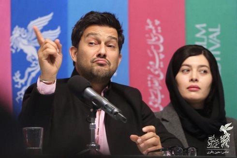 فیلم قصر شیرین,حامد بهداد,نشست خبری,جشنواره فجر,ژست حامد بهداد