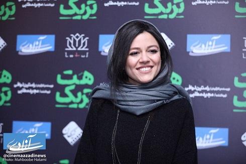 ماهور الوند در اکران فيلم سينمايي «هت تريک»