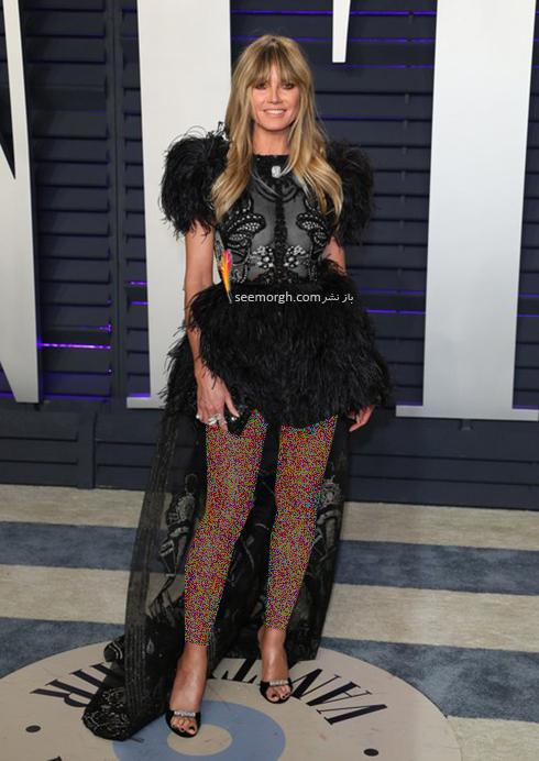 مدل لباس,مدل لباس در میهمانی بعد از اسکار,مدل لباس در میهمانی مجله ونتی فیر,مدل لباس هایدی کلوم Heidi Klum در میهمانی بعد از اسکار 2019 Oscar
