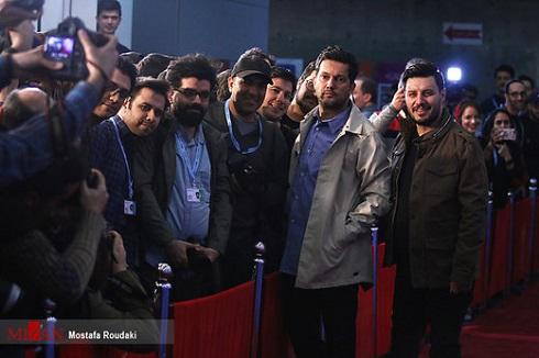 حامد بهداد و جواد عزتی روی فرش قرمز جشنواره فجر97