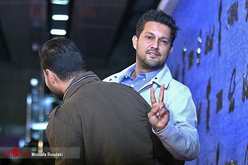 ژست جالب حامد بهداد و جواد عزتی در جشنواره فجر97