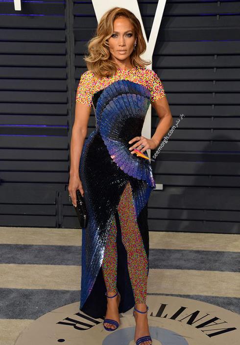 مدل لباس,مدل لباس در ميهماني بعد از اسکار,مدل لباس در ميهماني مجله ونتي فير,مدل لباس جنيفر لوپز Jennifer Lopez در ميهماني بعد از اسکار 2019 Oscar
