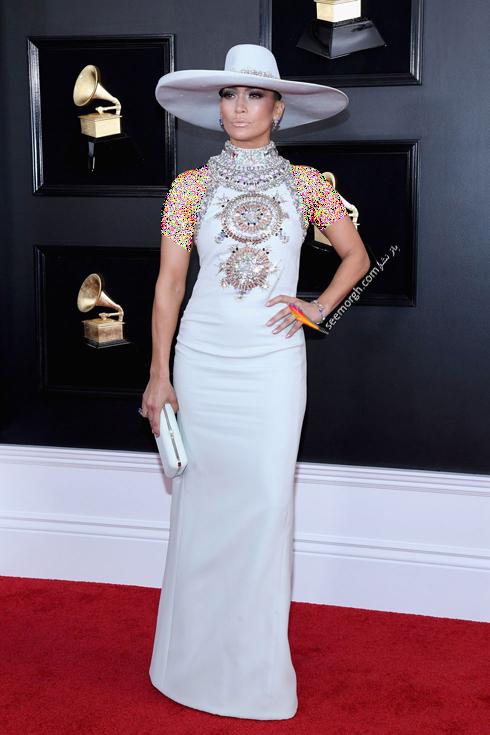 مدل لباس,مدل لباس در جایزه گرمی,جایزه گرمی 2019,مدل لباس در جایزه گرمی 2019,مدل لباس جنیفر لوپز Jennifer Lopez در جایزه گرمی 2019 Grammy Awards