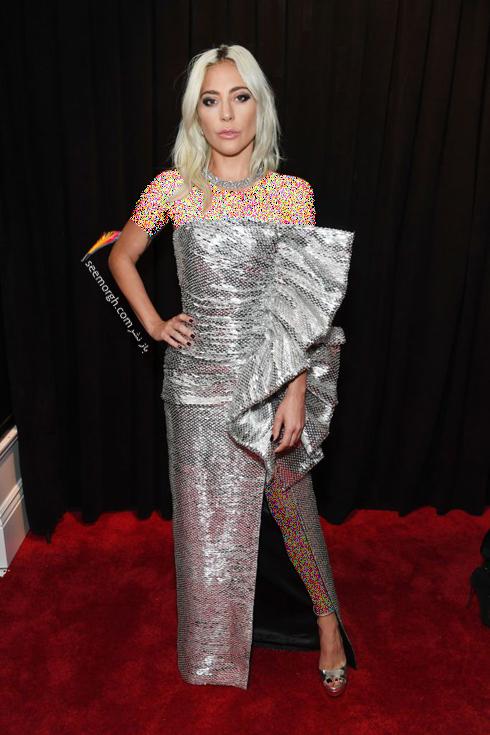 مدل لباس,مدل لباس در جایزه گرمی,جایزه گرمی 2019,مدل لباس در جایزه گرمی 2019,مدل لباس لیدی گاگا Lady Gaga در جایزه گرمی 2019 Grammy Awards