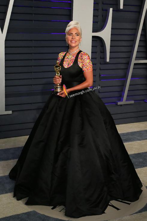 مدل لباس,مدل لباس در ميهماني بعد از اسکار,مدل لباس در ميهماني مجله ونتي فير,مدل لباس ليدي گاگا Lady Gaga در ميهماني بعد از اسکار 2019 Oscar
