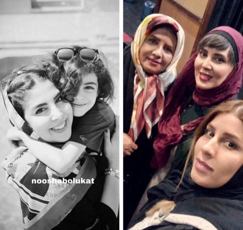 لیلا بلوکات در کنار مادر و خواهر هایش