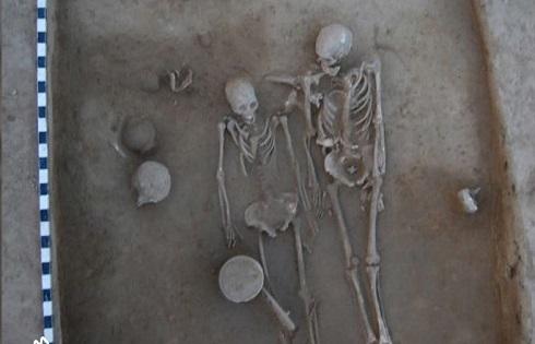 اسکلت عشاق باستانی هند