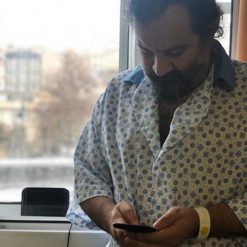 مهراب قاسمخانی,بیمارستان,اینستاگرام