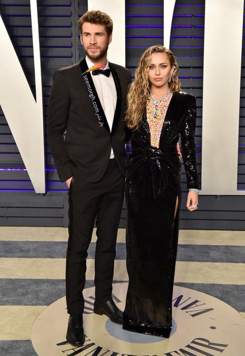 مدل لباس,مدل لباس در ميهماني بعد از اسکار,مدل لباس در ميهماني مجله ونتي فير,مدل لباس مايلي سايرس Miley Cyrus در ميهماني بعد از اسکار 2019 Oscar