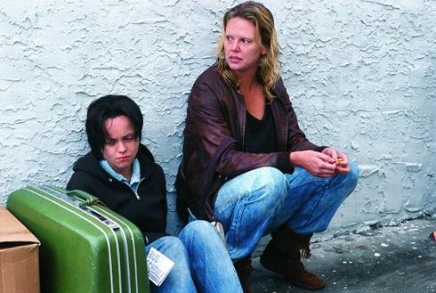 شارلیز ترون در فیلم «هیولا» (۲۰۰۳)